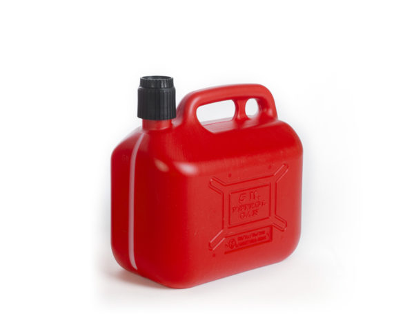 5L plastick petrol can with integrated cap